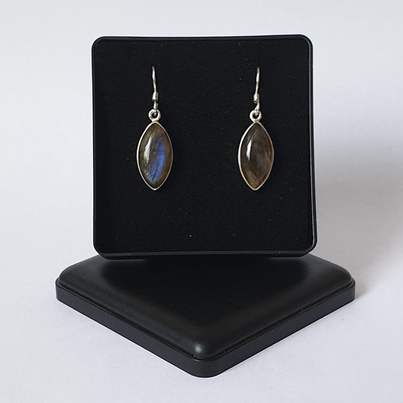 Labradorite Sterling Silver Drop Earrings - Gift Box - Charming And Trendy Ltd