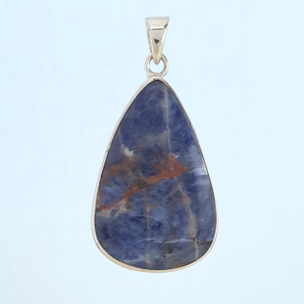 "Sodalite Sterling Silver Pendant 16"",18"",20"",22""& 24"" - Gift Boxed - Charming And Trendy Ltd"