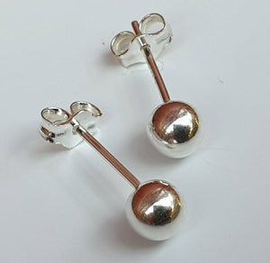 925 Sterling Silver Ball Stud Earrings - Pair - 2mm, 3mm, 4mm, and 5mm - Charming And Trendy Ltd