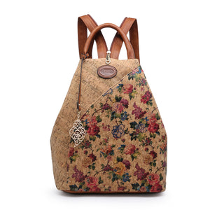 Cork Vegan Friendly Backpack - Floral Print - Charming And Trendy Ltd
