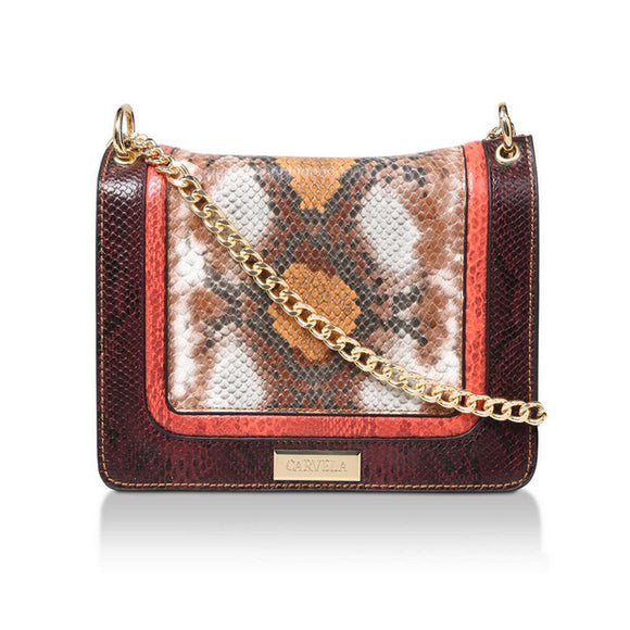 Carvela Flo Multi-Snake Print Cross Body Bag - RRP £69 - Free Earrings - Charming And Trendy Ltd