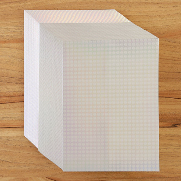Silver A5 Holographic Bubbles Card - Charming And Trendy Ltd