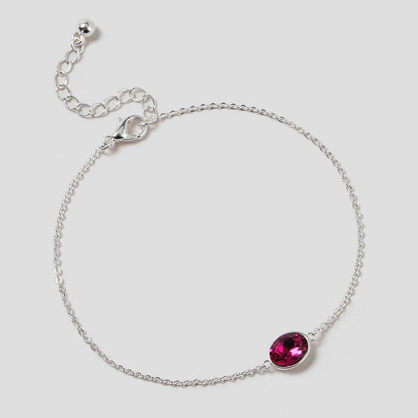 Fuchsia Bracelet made with Swarovski® Elements (Gift Boxed) - Charming And Trendy Ltd