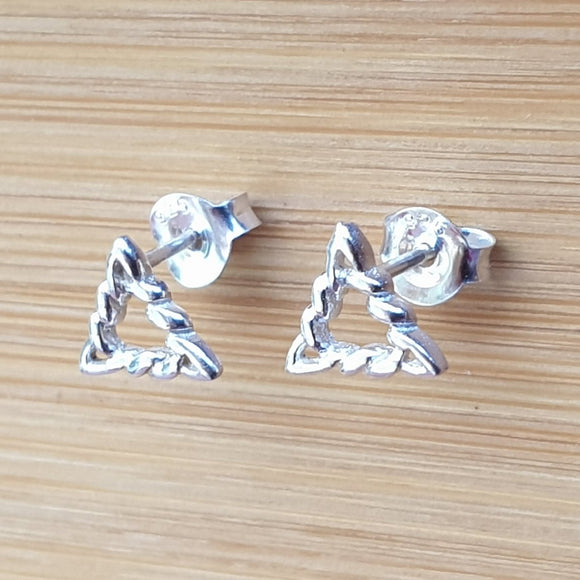 Celtic Triangle Sterling Silver Ear Studs CT0172