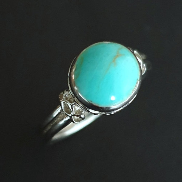 925 Sterling Silver Fancy Turquoise Ring, Size 'O 1/2' - Gift Bagged - Charming And Trendy Ltd