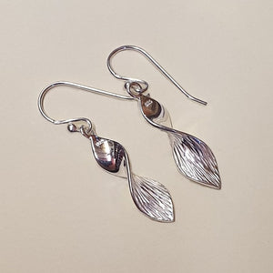 Sterling Silver Twisted Hook Earrings - Charming And Trendy Ltd