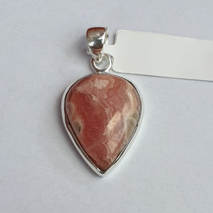 Pink Rhodochrosite Pendant set in Sterling Silver - Charming And Trendy Ltd