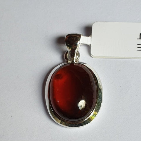 Hessonite Garnet Sterling Silver Pendant - Charming And Trendy Ltd
