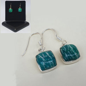 Amazonite Sterling Silver Drop Earrings - Charming And Trendy Ltd