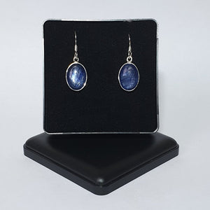 Kyanite Sterling Silver Drop Earrings - Charming And Trendy Ltd