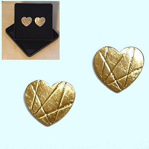 Heart Stud Gold Plated Earrings - Gift Box - Charming And Trendy Ltd