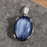 Rare Size Kyanite High Lustre Pendant set in Sterling Silver (17Ct) - Charming And Trendy Ltd