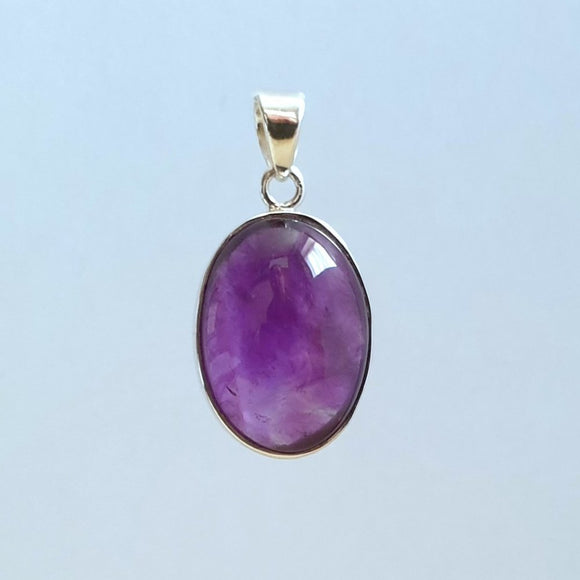 Amethyst Sterling Silver Pendant - Charming And Trendy Ltd