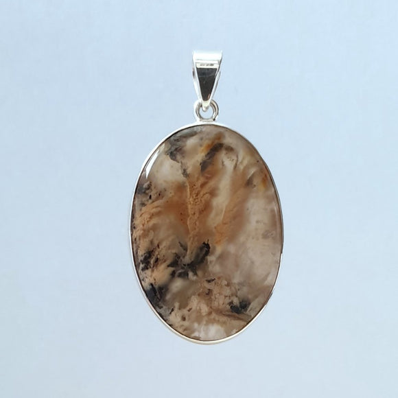 New Agate Sterling Silver Pendant - Charming And Trendy Ltd