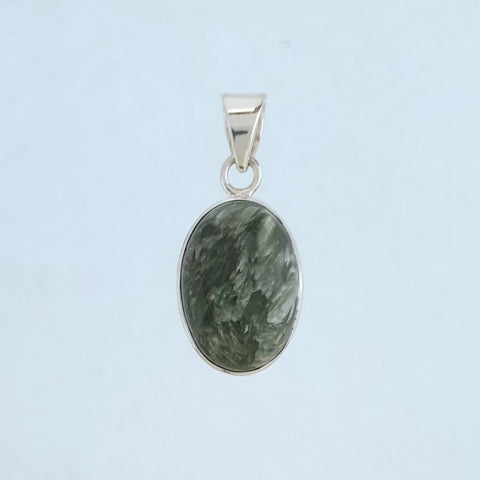 Seraphinite Sterling Silver Pendant - Charming And Trendy Ltd
