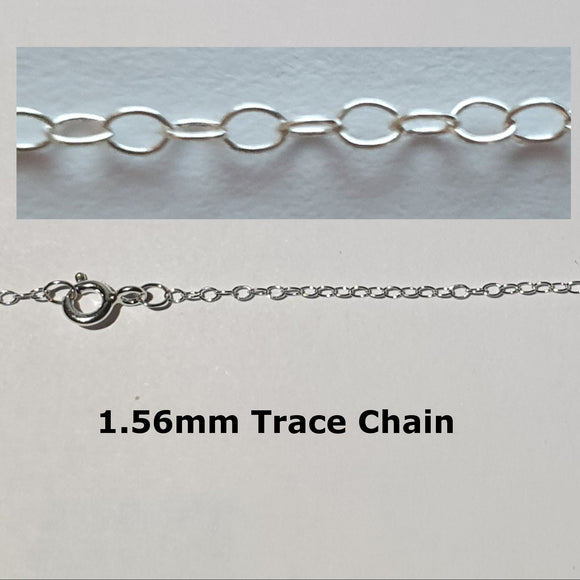 1.56mm Sterling Silver Trace Chain - Charming And Trendy Ltd