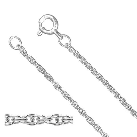925 Sterling Silver Prince of Wales Rope Necklace 1.4mm (Various Lengths)