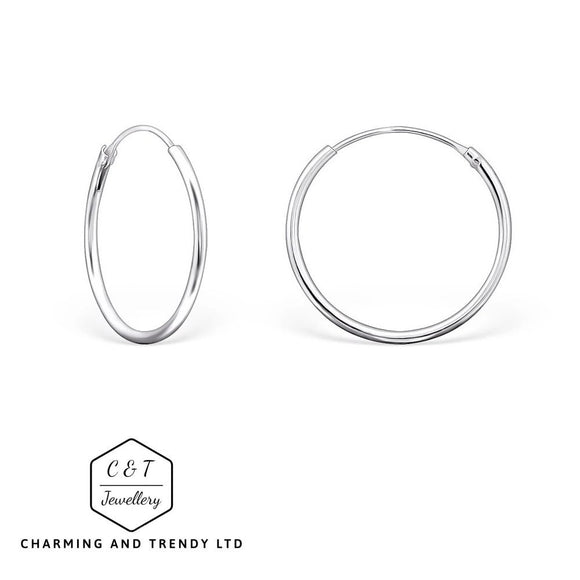925 Sterling Silver Hinged Hoop/Sleeper Earrings - Charming And Trendy Ltd