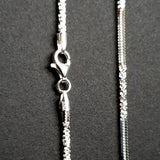"Sterling Silver Alternate Twisted Rock Chain - 18"", Silver wt 5.00g - Charming And Trendy Ltd"