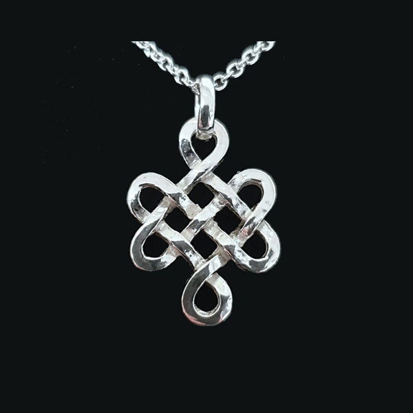"925 Sterling Silver Celtict Pendant Necklace 16-18"" - Gift Boxed (No2) - Charming And Trendy Ltd"