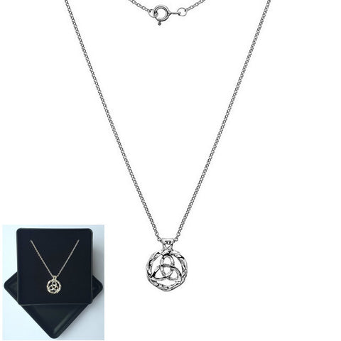 "925 Sterling Silver Celtict Pendant Necklace 16-18"" - Gift Boxed (No1) - Charming And Trendy Ltd"