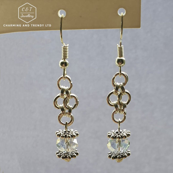 Clear Crystal Fashion Drop Earrings - Charming And Trendy Ltd