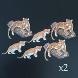 Jaguar & Cub Die Cuts (Decoupage, Crafting, Card Making) - Charming And Trendy Ltd