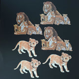 Lion Family & Cub Die Cuts (Decoupage, Crafting, Card Making) - Charming And Trendy Ltd