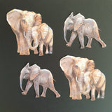 Elephant Family & Calf Die Cuts (Decoupage, Crafting, Card Making) - Charming And Trendy Ltd