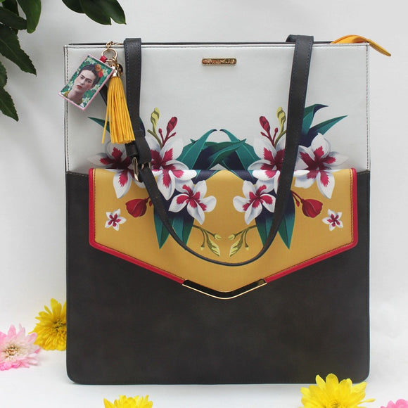 House of Disaster Frida Kahlo 2 in 1 Tote and Clutch Bag - RRP £69.99
