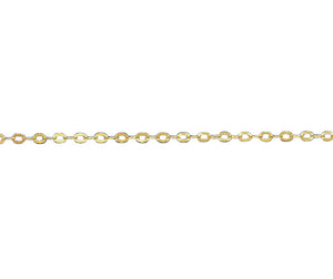 "9Ct Gold 1.27mm Trace Chains - 16"" 18"" & 20"" - Charming And Trendy Ltd"