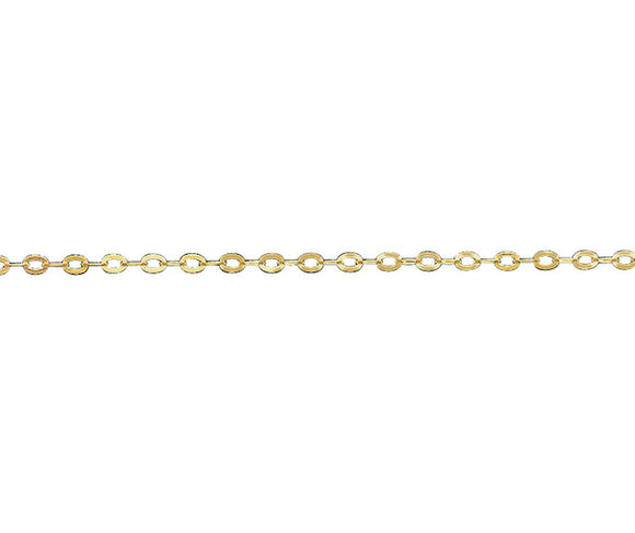 9Ct Gold 1.27mm Trace Chains - 16