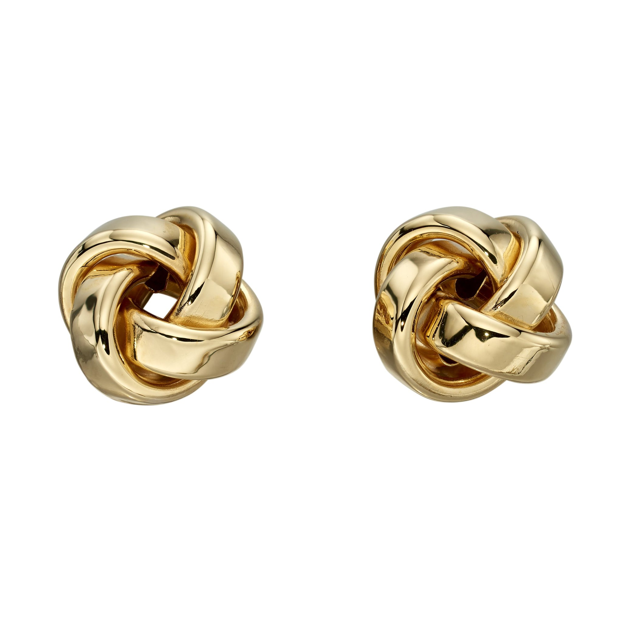 9ct Gold Knot Stud Earrings by Elements Gold (GE2201) - Charming and trendy Ltd