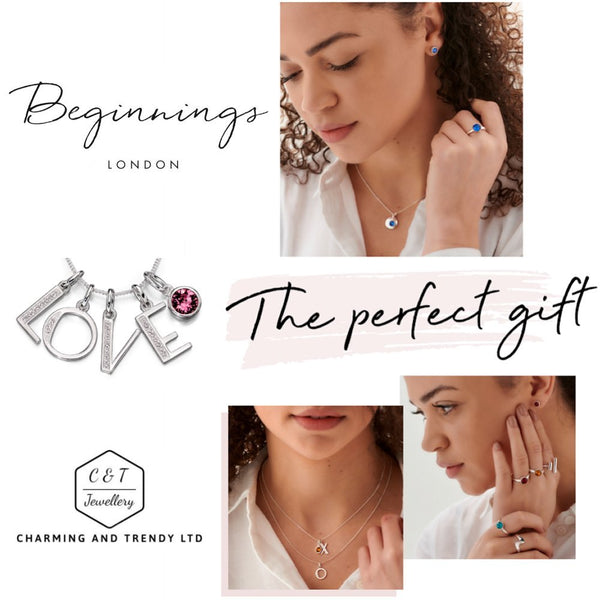 "Sterling Silver Crystal Birthstone Pendant Necklaces, 16"", 18"" or 20"" Gift Boxed - Charming And Trendy Ltd"