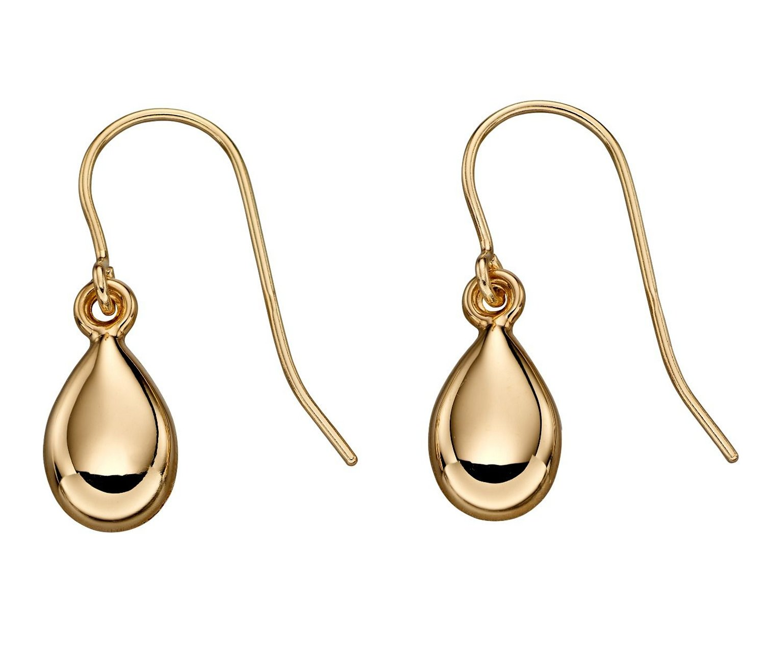 9k Yellow Gold Teardrop Earrings by Elements Gold - GE2217 - Charming And Trendy Ltd