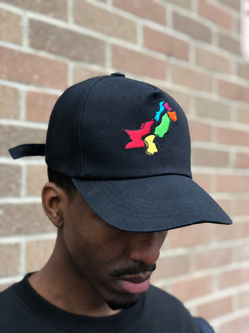 Black Pakistan Map Cap