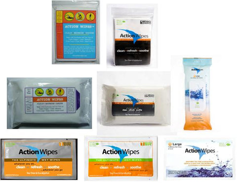 Action Wipes Packaging History