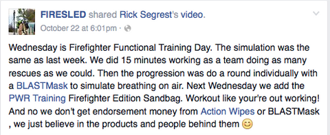 FireSled Firefighter Functional Training Video Demonstrates Action Wipes