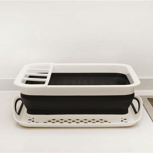 Collapsible Dish Rack | Cleaning Tools | [option 1] With Tray | [store_name]