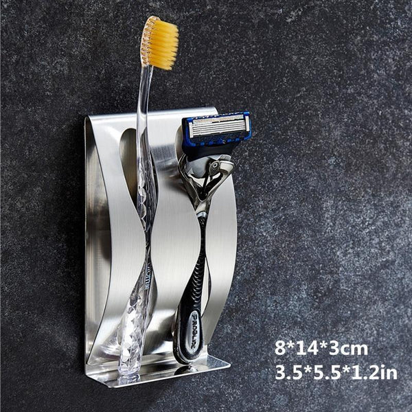 Wall Mounted Toothbrush / Shaver Holder | Sink and Vanity | [option 1] | [store_name]