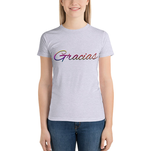 "Ladies' ""Gracias"" Fine Jersey Tee - Truth Seeker's Journey"