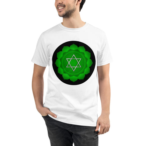 ANAHATA - Heart Chakra Unisex Organic Tee - Truth Seeker's Journey