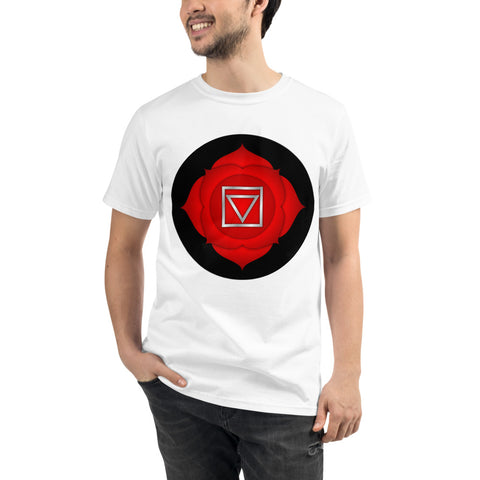 MULADHARA - Root Chakra Unisex Organic Tee - Truth Seeker's Journey