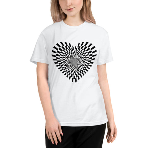 """Heart of Illusion"" Unisex Eco-Friendly Tee - Truth Seeker's Journey"