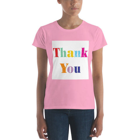 "Ladies' ""Thank You"" Fitted Tee - Truth Seeker's Journey"