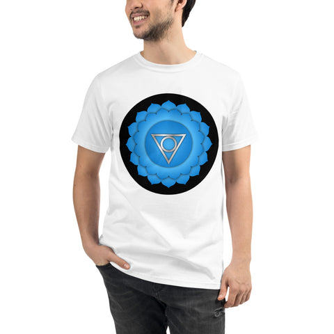 VISHUDDHA - Throat Chakra Unisex Organic T-Shirt - Truth Seeker's Journey