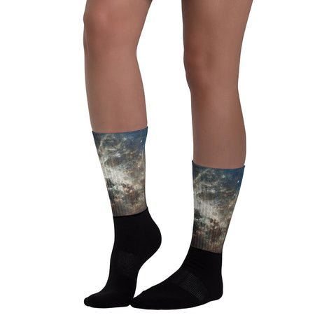 Unisex Cosmic Socks - Truth Seeker's Journey