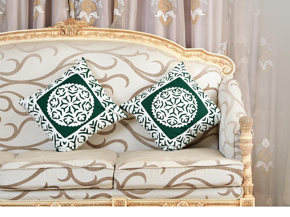 Forest Green Decorative Pillow 4