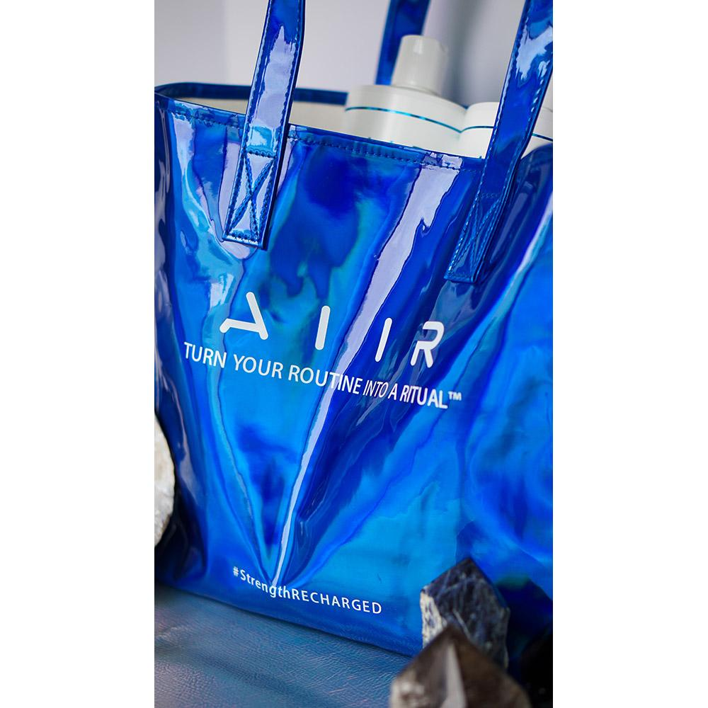 AIIR Professional tote - blue holographic bag
