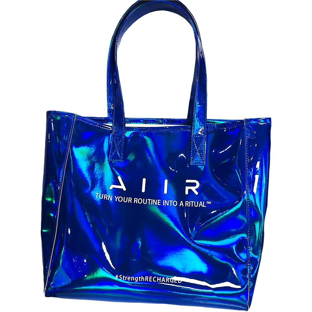 AIIR Blue PVC Holographic Tote